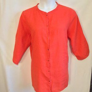 Eileen Fisher Tunic shirt Size 1X Soft Warm Red